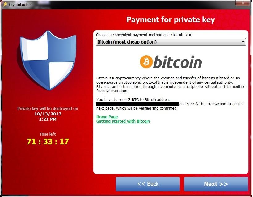 Exemple de donnée chiffrée par un malware cryptolocker.